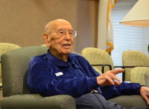 106 year old Dick Howard Hendricks 120215