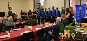 Choir Director leads the NHS Symphonic Choir 120915