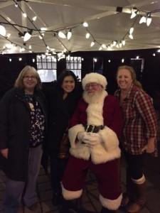 Santa and rotarians