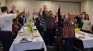 High Fives for the Newberg Noon Rotary Club for exceeding One Million dollars donated to the youth of our communities 021716