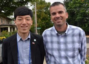 Corey Zielsdorf with Rotary Exchange Student 083116