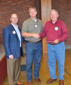 Grant Gerke and Dr. Eric Bergquam present Rotadent check to NRF President Spike Sumner 053117