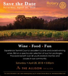 2018 Rotary Charity Auction @ The Allison Inn & Spa | Newberg | Oregon | United States