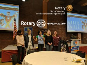 "Club Meeting (Friendsview: 1301 Fulton St, Newberg, OR 97132)<br>Program:<p style=""margin-left: 40px"">Inbound Rotary Exchange Student Presentations</p>Presenters:<p style=""margin-left: 40px"">Rosa & Matteo</p> @ Friendsview"