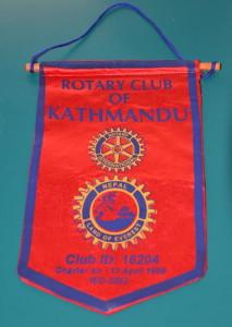 Kathmandu Rotary Club Flag 021016