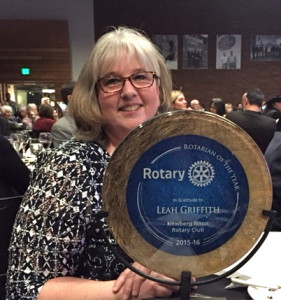 Leah Griffith Rotarian of Year