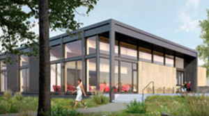 Rendering of the new Canyon Commons dining hall at GFU. Come see the new building for yourself this Wednesday!