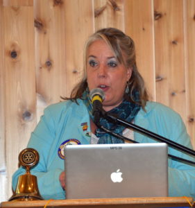 Renee Brouse introduces the D.G. Tom Markos 072016