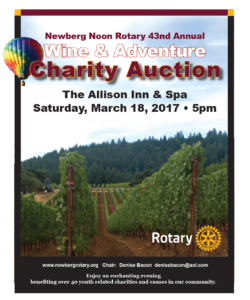 2017 rotary auction flyer