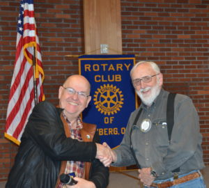 Mike Caruso presents Leroy Benham with another PHF pin 041917